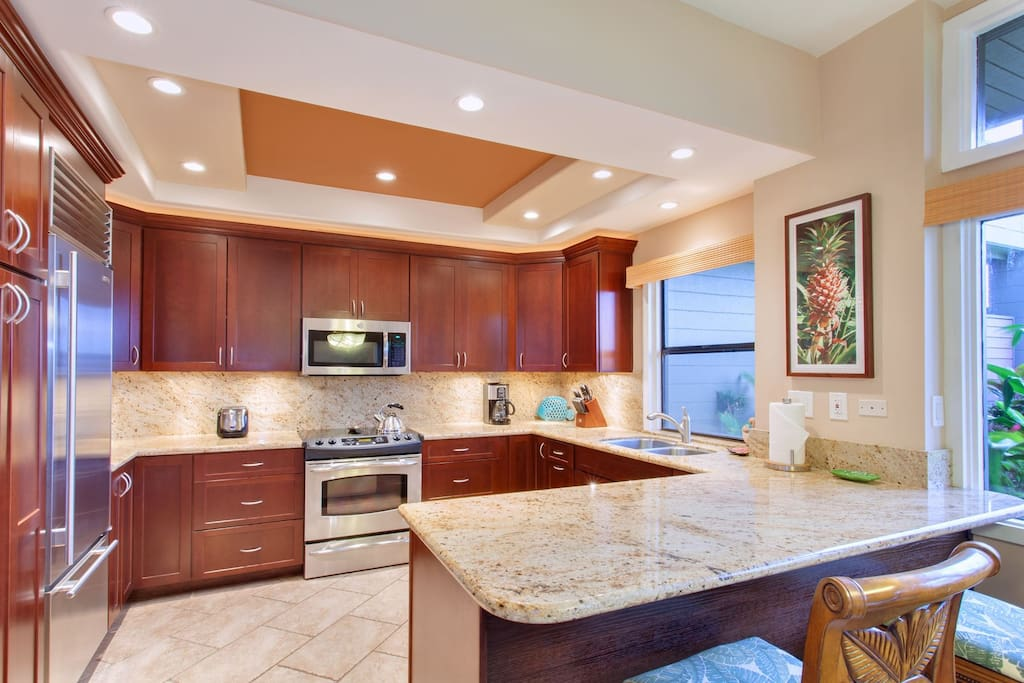 The remodeled kitchen is a chef`s dream and provides everything you need to prepare your meals