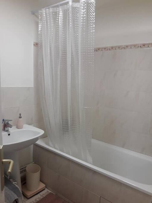 salle de bain avec baignoire (WC séparés)