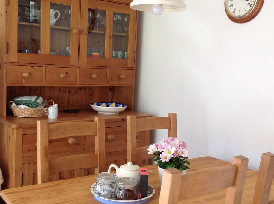 Dining in Bluebell Cottage