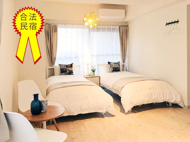 Certified!中崎町公寓301.紧邻地铁站.步行至梅田7分钟.交通便捷.