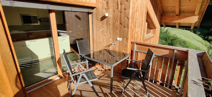"""Modern Apartment """"Bawiglbach Großkarneid"""" in Beautiful Scenery with Mountain View, Wi-Fi, Balcony & Garden; Parking Available"""