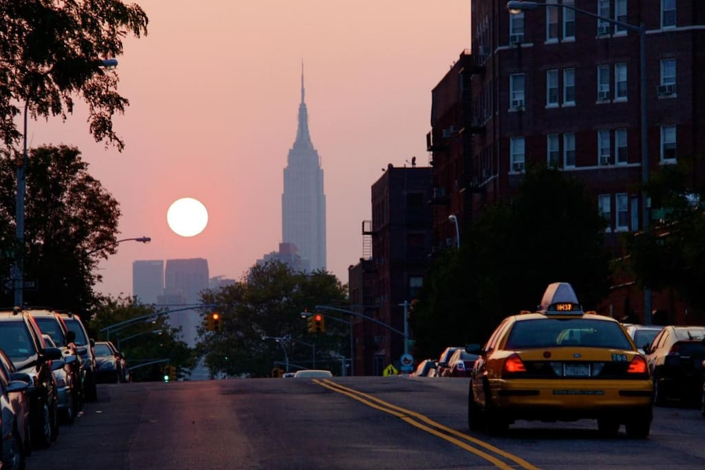 This is a view of Sunnyside NY.  Queens area, very close to Manhattan and a nice place to spend time at.