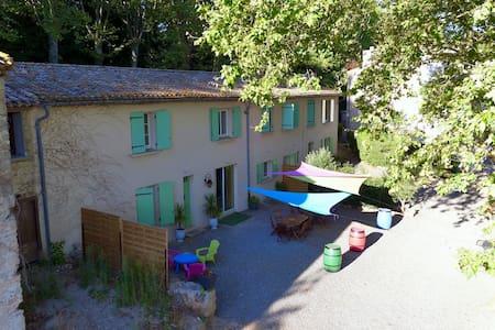 Jolie Chambre Privée 4 pers dans Domaine Vignes - Marseillette