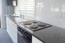 Fully equipped self catering kitchen all in one room