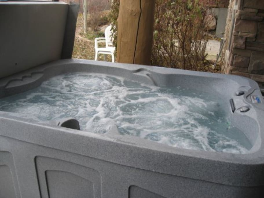 New Hot Tub October 2013 on Lower Level Patio