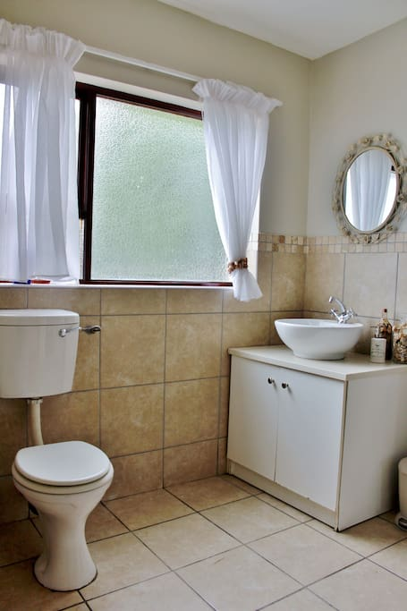 Downstairs bathroom with toilet, sink...