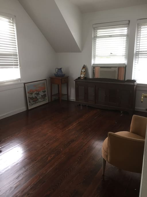 Private room with a/c . Good for air mattress bed. (Not supplied but can be rented)