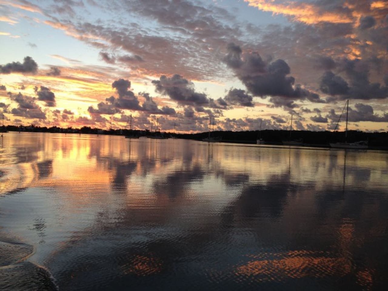 Harbor view at dawn