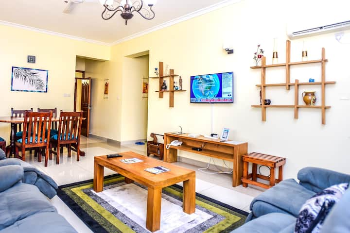 Entire 3 bedroom apartment in the ❤️ of Nyali