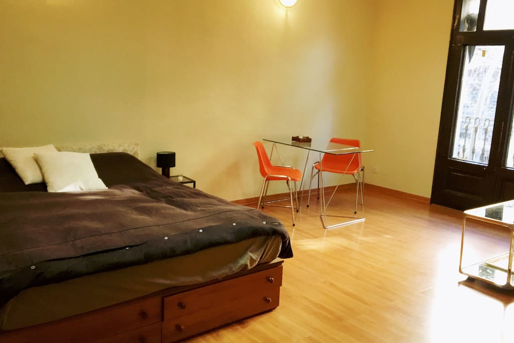 big room with double comfort bed