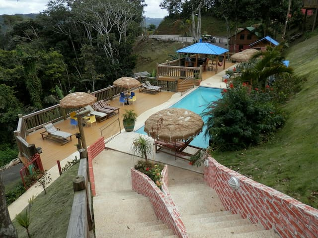 Hard Rok Village -  5 Cabins w/Pool - Orocovis - Stuga