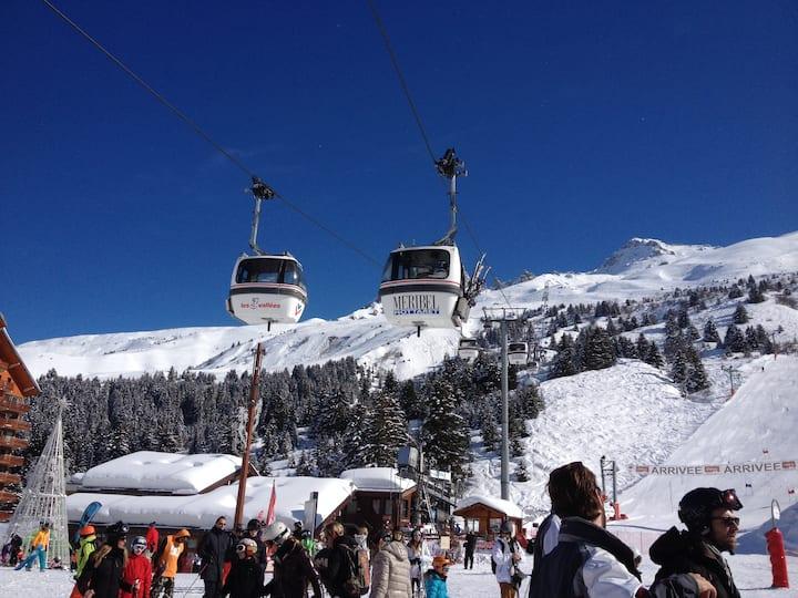 Studio confortable skis aux pieds Méribel Mottaret