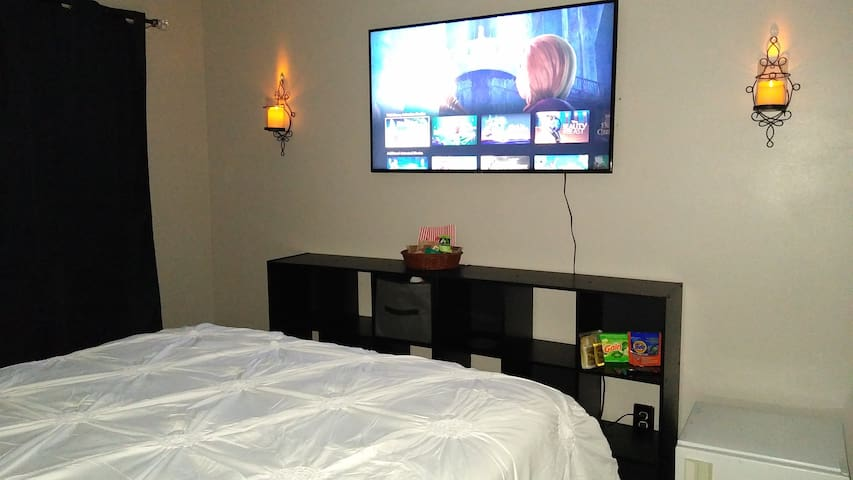 Reasonably Priced Nice room  with 55 in Smart T.V.