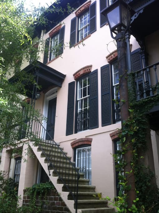 This rental unit is the top two floors of this historic 1872 townhouse.