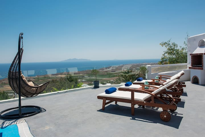 Villa for 4, Private Pool, Aegean Sea View