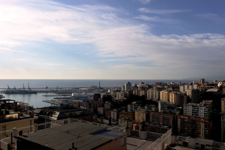 Over the roofs of Genoa - Genova - Condominium
