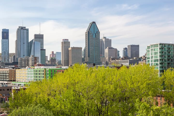 1 bedroom apart. in Griffintown with view on Mtl