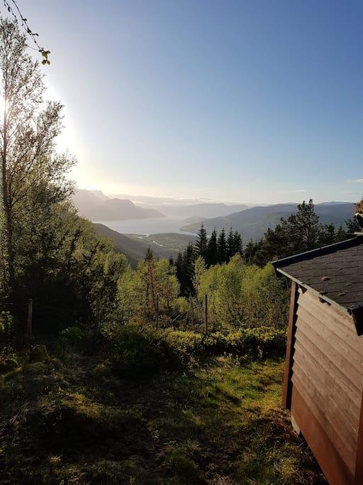 Utsikt fra hytta / View from the cabin