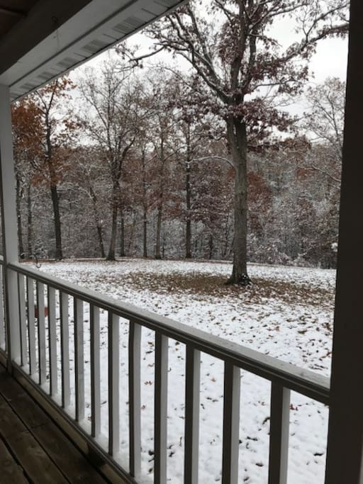 Our first snow!  November 2018