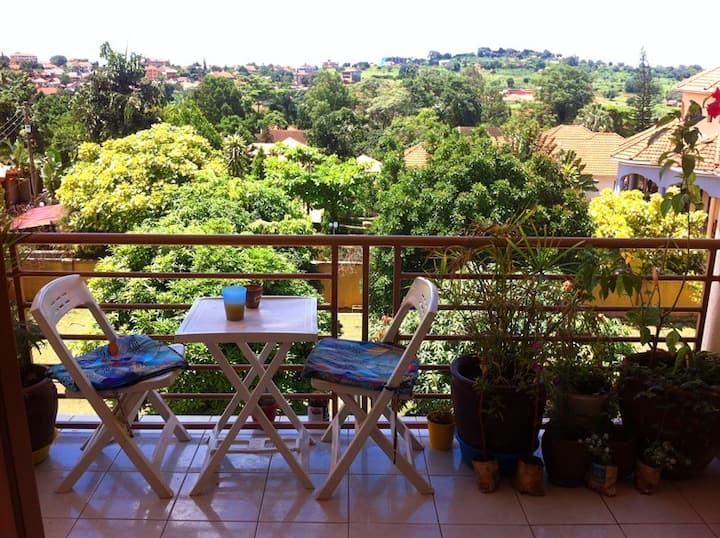 Amazing view, Kampala.  Mango and Avacodo trees