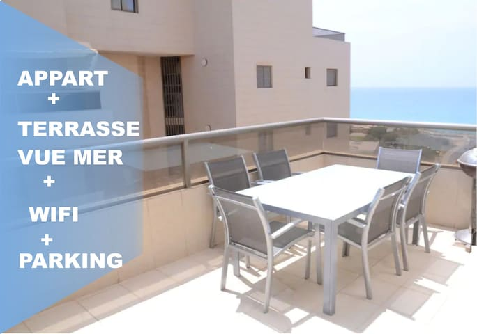 SPACIEUX SEA VIEW APPART + FREE WIFI + PARKING