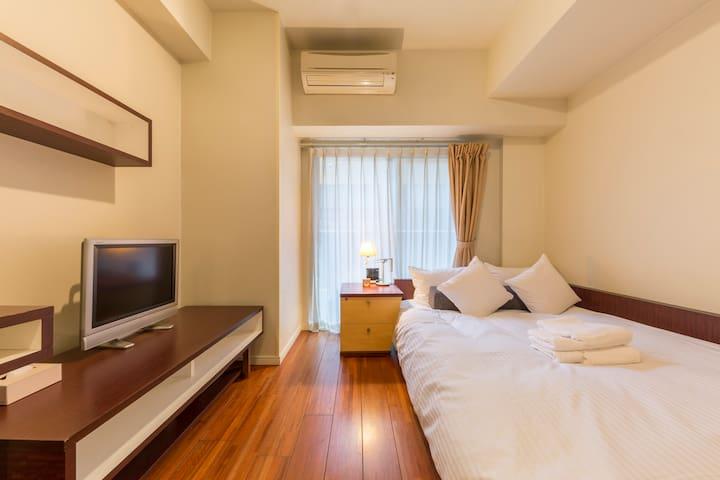 Cozy apt.Tokyo dwntown/FreeWifi/5min Ningyocho stn - Chūō-ku - Byt
