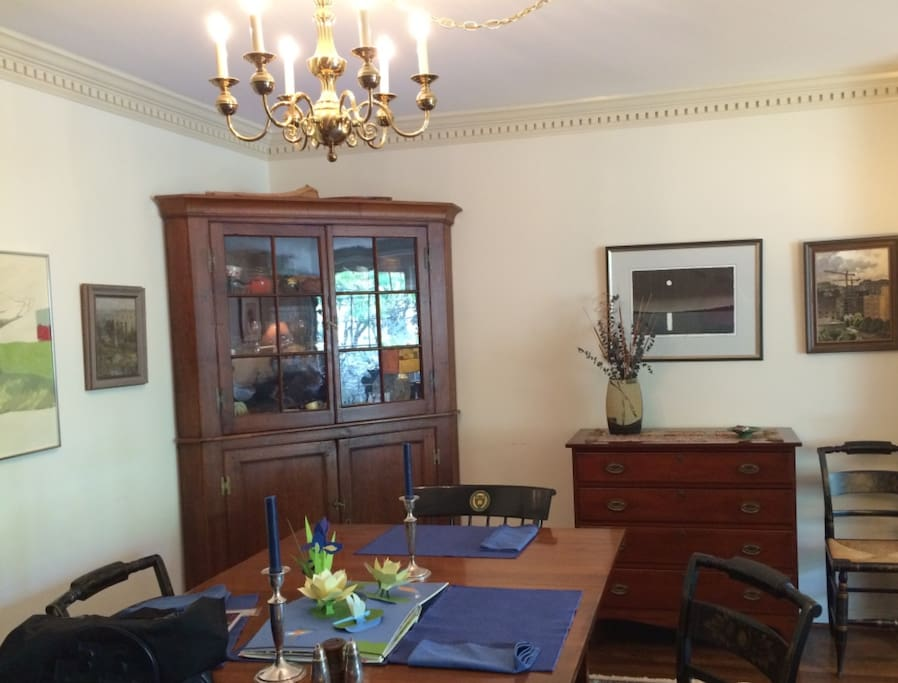 Dining Room seats 8-10 - with fine china, stemware, cutlery & plenty of specially sized serving dishes provided.