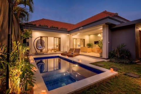 Charmante villa de 2 chambres, près de la plage!