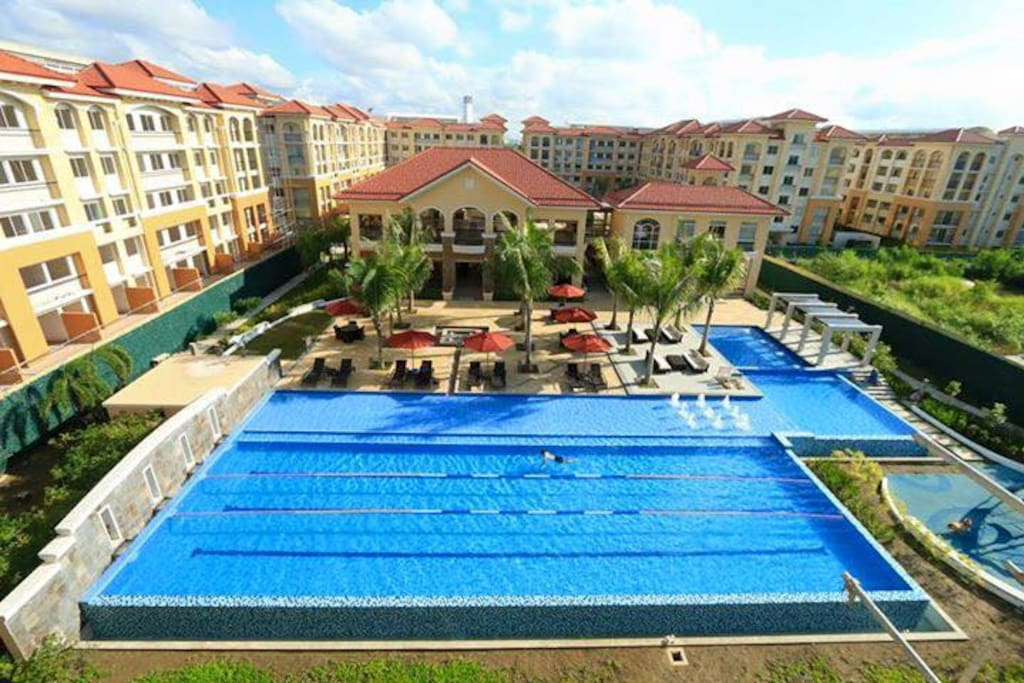 Lap pool and kiddie pool are free of charge