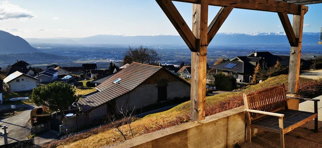 20 min Genève vue imprenable entre lac et montagne