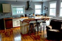 Open concept Kitchen/Living room.