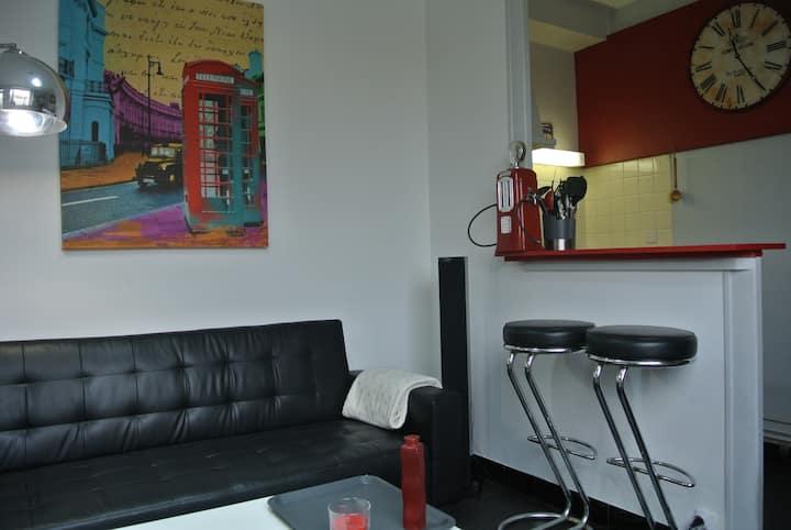Bel appartement vintage avec jardin