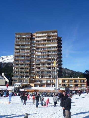 studio cœur station, pied de pistes de skis