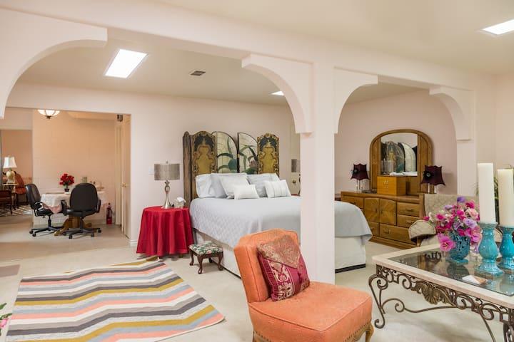 Spacious SOUTH HILL guest suite.
