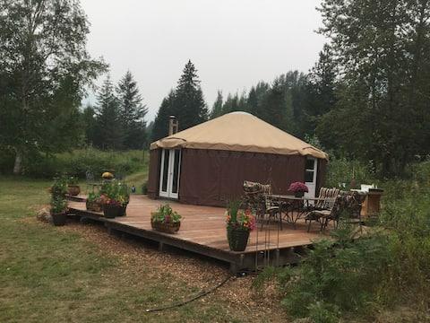 Yurt luxury camping 'Glamping' @ Hummingbird Farm