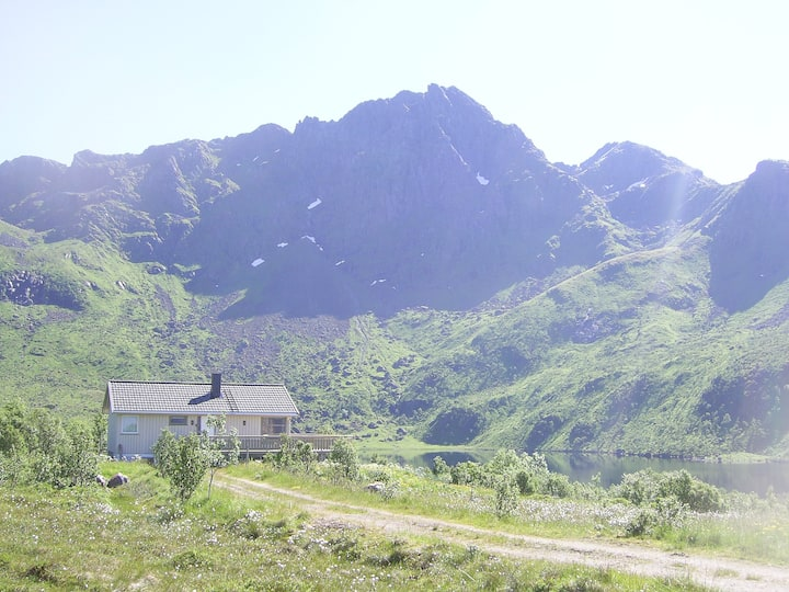 House in quiet valley, in the middle of Lofoten:)