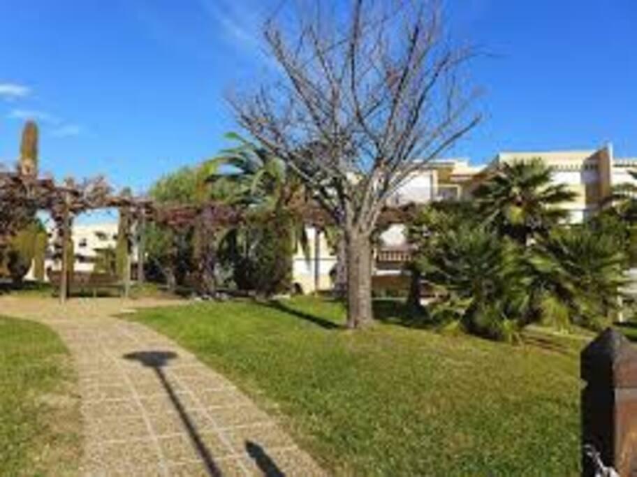 La résidence avec des espaces verts