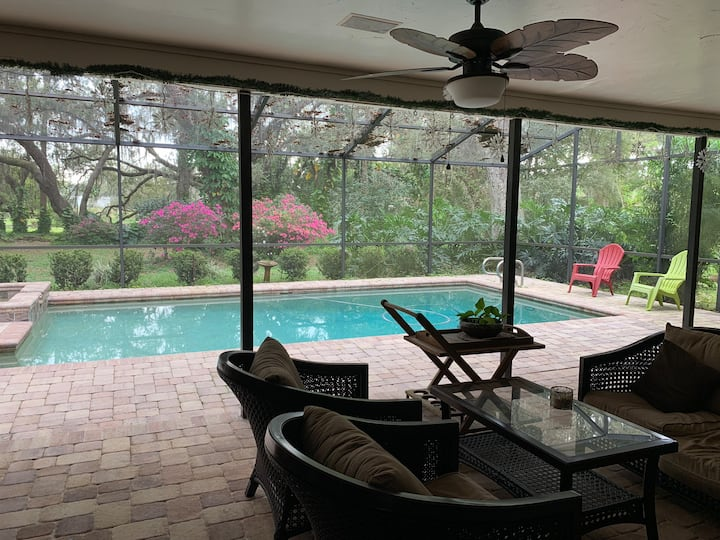 Private room (1 )on Tampa area Oasis with pool