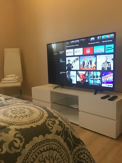 Cast your favorite entertainment from your mobile device to the tv with Google cast!!!  Netflix, Pandora, YouTube, Spotify, and much more!!!