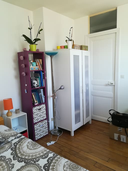 Room with wardrobe