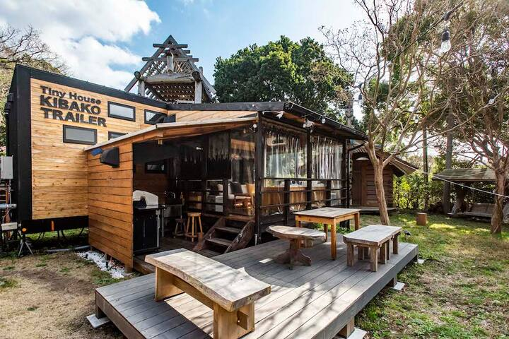 Stunning tiny house.Balcony,BBQ[kawazu]