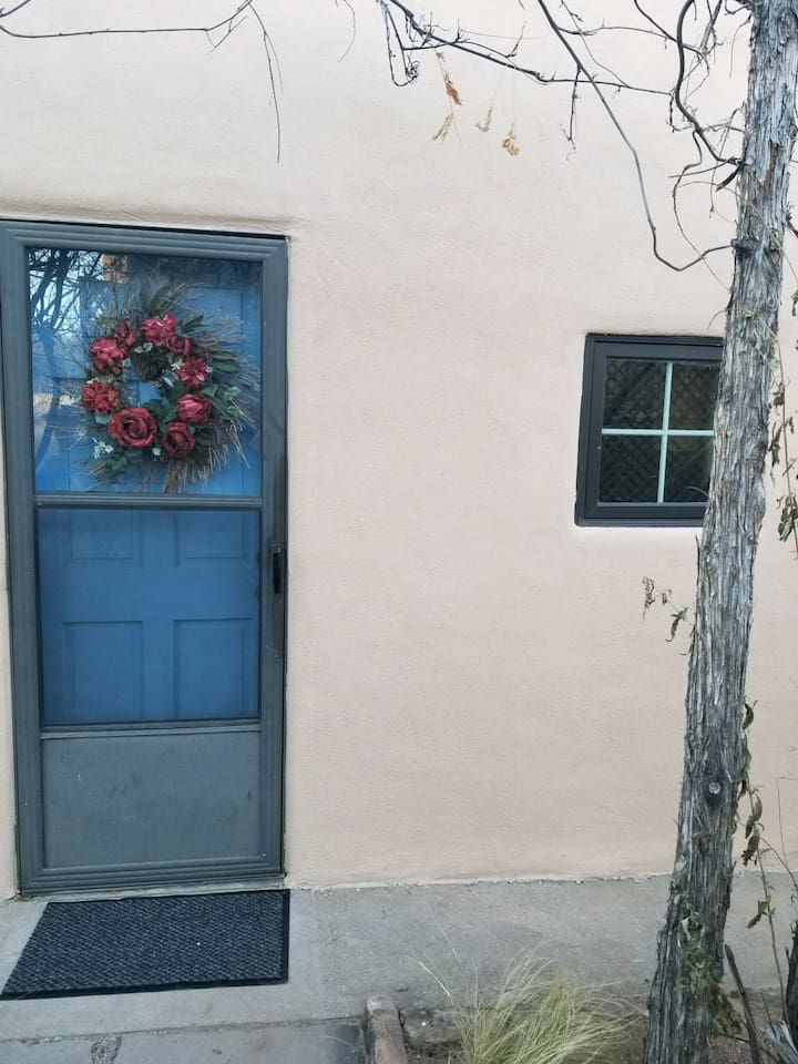 Cottonwood Casita, just newly renovated. We welcome you to our home property and to Santa Fe.