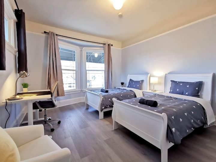 177E - Double-Twin Bedroom near SJSU & Airport