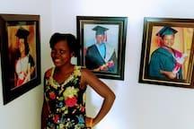 """An intern in ALI's """"Hall of Graduates"""""""