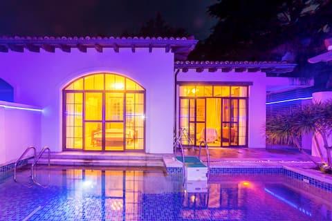 海棠湾近免税店、亚特兰蒂斯、私人沙滩泳池别墅(几米民宿)