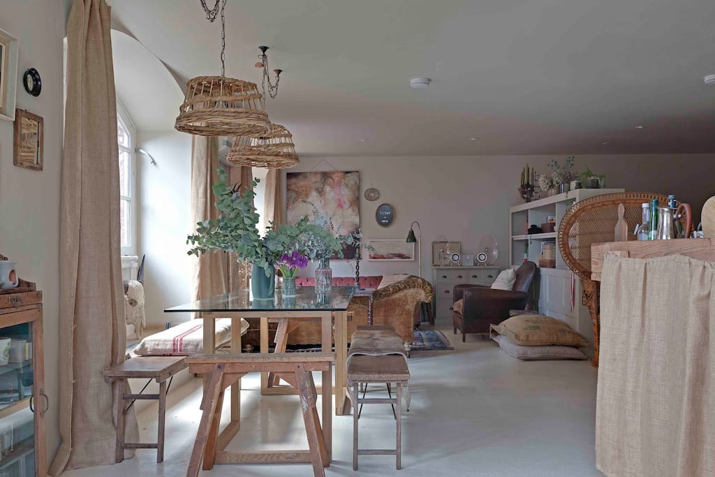 Dining area through to Sitting Room