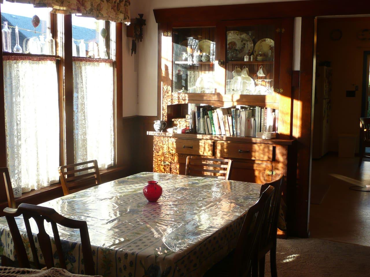 Dining room on main floor