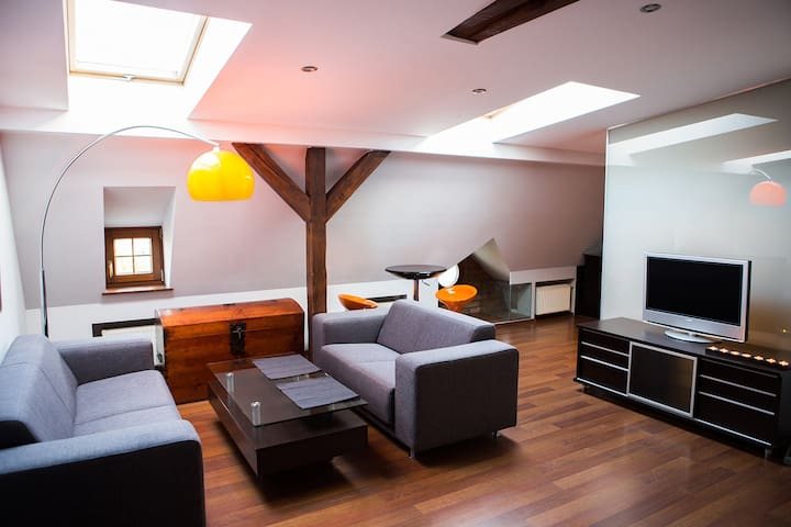 Large modern loft in great location - Poznań - Apartment
