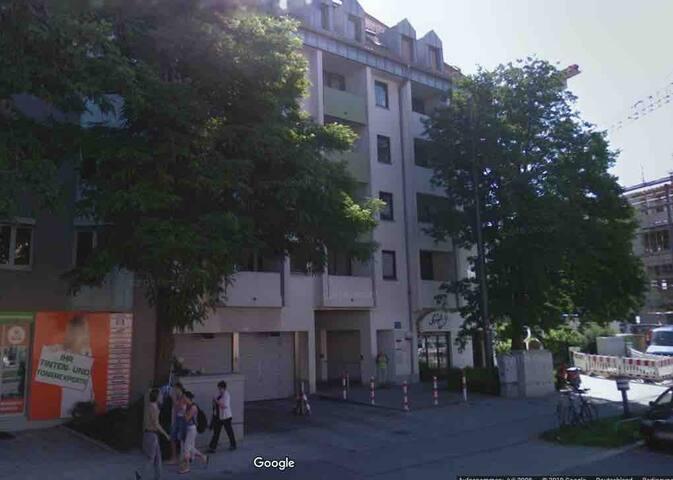 Haus, in dem das Appartement liegt