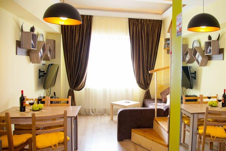 A Cozy 2-level studio in Gudauri Palace